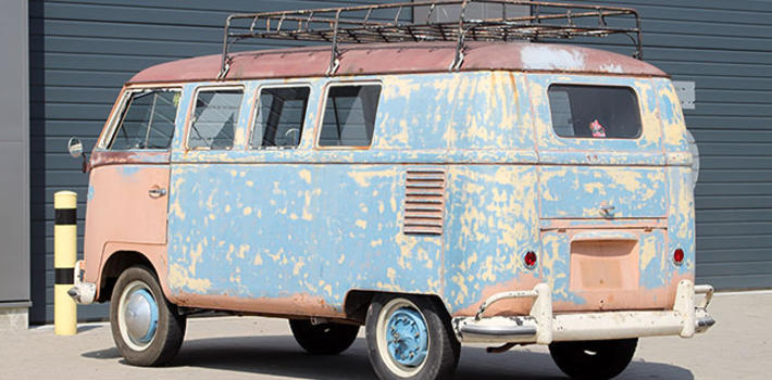 1958 For sale! Multi colored early kombi! http://www.virginoutlaws.com/thumbs/710x350/assets/components/gallery/files/226/15275.jpg